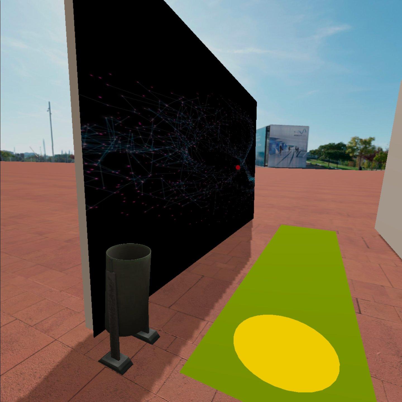 Escena con un panel visual a la izquierda y otro a la derecha en blanco.