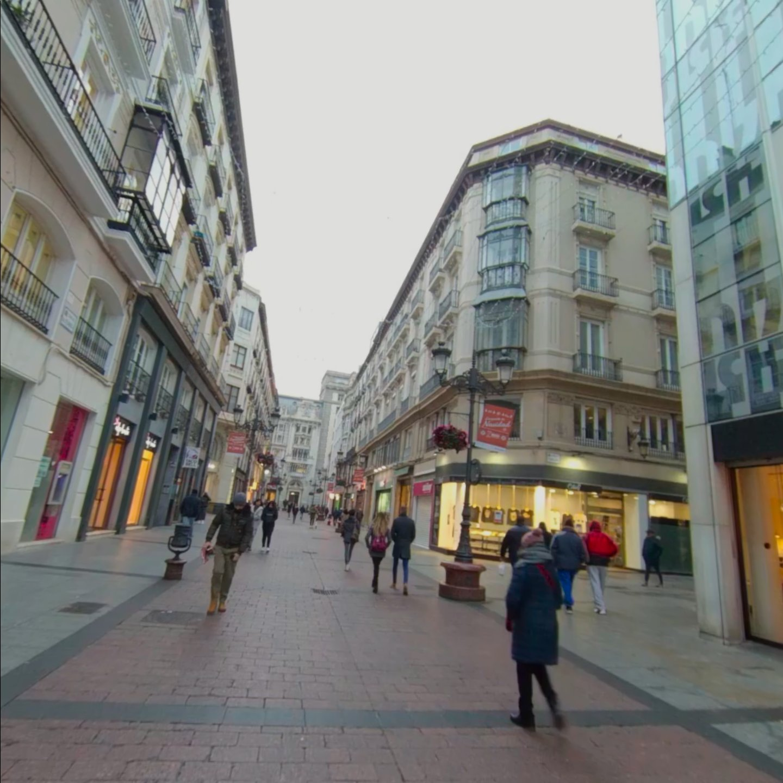 Vídeo calle Alfonso I con gente paseando.