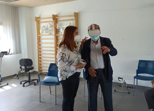 realidad virtual ancianos residencia