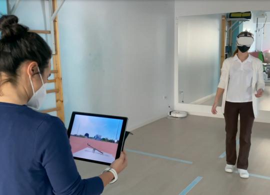 sesion realidad virtual fisioterapia